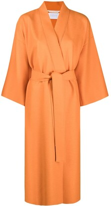 Harris Wharf London Belted Wrap-Front Coat