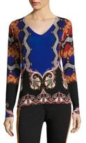 Etro Silk & Cashmere Snake Pullover