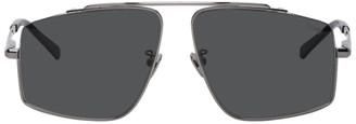 Brioni Silver and Black Square Sunglasses