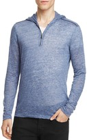 John Varvatos Collection Linen Melange Half-Zip Hoodie Sweater