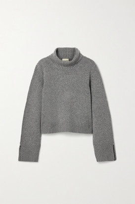 KHAITE Marion Cashmere Turtleneck Sweater - Gray