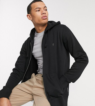 French Connection Essentials Tall zip through hoodie with logo