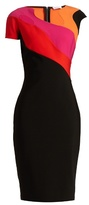 Thierry Mugler Abstract neckline and panel jersey dress