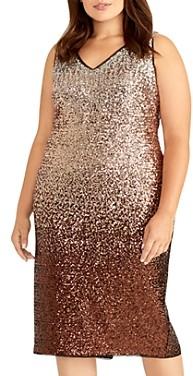 Rachel Roy Plus Ombre Sequined Midi Dress