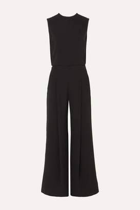 McQ Open-back Crepe Jumpsuit - Black