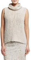 Donna Karan Sleeveless Cashmere Sweater, Natural