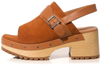 Rachel Comey Dozer Clog in Saddle