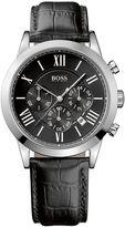 HUGO BOSS Men's Black Dial Black Band Watch