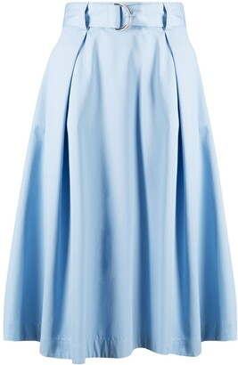MSGM Belted Waist Full Skirt