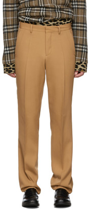 Burberry Tan Canvas Formal Trousers