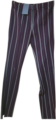 Alexander McQueen Purple Wool Trousers for Women