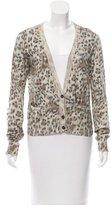 Chloé Leopard Print Rib Knit Cardigan