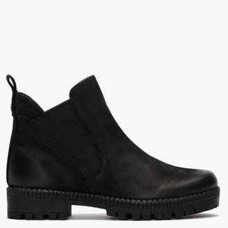 Daniel Selego Black Nubuck Chelsea Boots