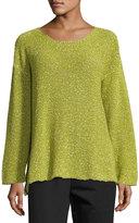 eskandar Round-Neck Corded Cotton Sweater
