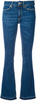 Dondup stonewashed flared jeans - women - Cotton/Polyester - 26