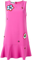 Moschino floral appliqué dress
