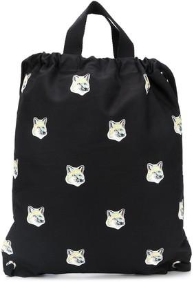 MAISON KITSUNÉ Fox Print Backpack Tote