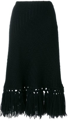 Dolce & Gabbana Pre-Owned Fringed Knitted Skirt