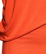 H&M Draped Dress - Orange - Ladies