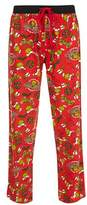Burton Mens Red The Grinch Print Pyjamas