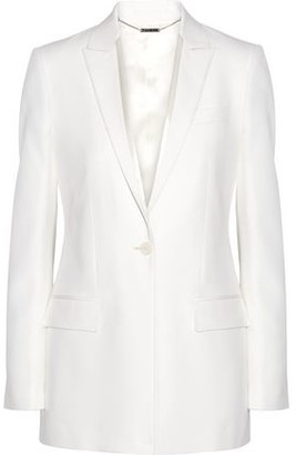 Givenchy Satin-trimmed Blazer In Cream Grain De Poudre Wool