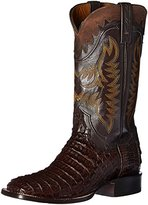 Lucchese Classics Men's Rhys-Barrel Bwn Hb Caiman Horseman Riding Boot