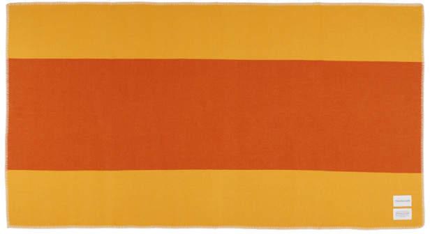 Calvin Klein Orange Pendleton Edition Colorblocked Blanket