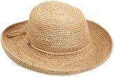 Scala Women's Womens Crocheted Raffia Hat