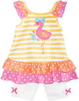Nannette 2-Pc. Flamingo Cotton Top & Shorts Set, Baby Girls (0-24 months)