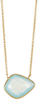 Argentovivo 18K Gold Plated Sterling Silver Organic Shape Pendant Necklace