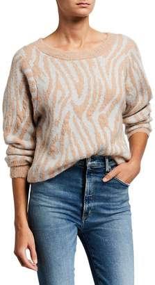 Rebecca Taylor Tiger Stripe Wool Pullover Sweater