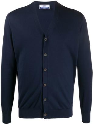 Fedeli V-neck knitted cardigan