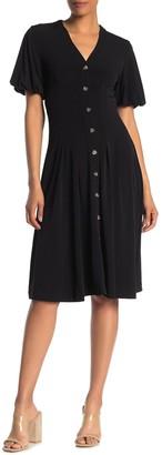 French Connection Serafina Short Bubble Sleeve Dress