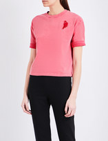 Maje Trendy parrot-embroidered jersey T-shirt