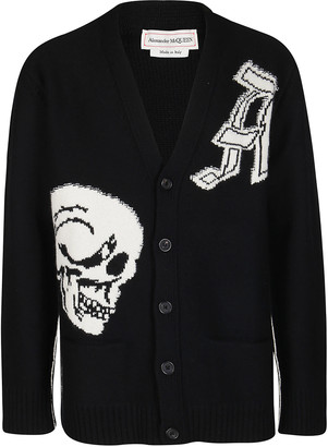 Alexander McQueen Black Wool Cardigan