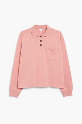 Monki Long-sleeve polo shirt