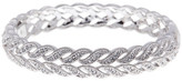 Nadri Crystal Pave Wide Woven Bangle Bracelet