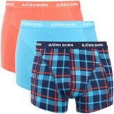 Bjorn Borg Men's Three Pack BB Check Boxer Shorts