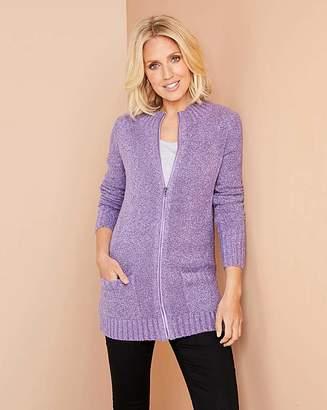 Julipa Lavender Boucle Zip Cardigan