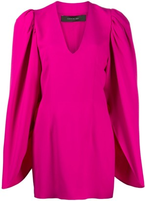 FEDERICA TOSI Cape-Sleeve Mini Dress