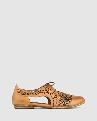 Airflex Women's Brown Brogues & Loafers - Dashed Laser Cut Leather Flats - Size One Size, 7 at The Iconic
