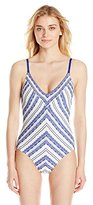 Robin Piccone Women's Danielle French Picnic V-Neck One-Piece Swimsuit