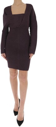 Bottega Veneta Asymmetric Neckline Knit Dress