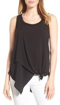 Wit & Wisdom Women's Knotted Asymmetrical Tank