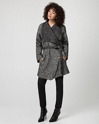 Le Château Italian Tweed Wrap Coat