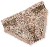 Natori Feathers Lace Trimmed Mesh Hipster Briefs