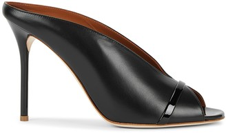 Malone Souliers Charlize 100 black leather mules