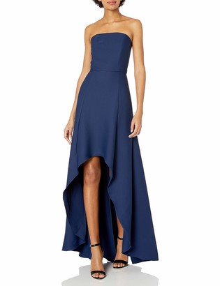 Laundry by Shelli Segal Women's Strapless Hi Low Crepe Gown