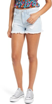 Tinsel Distressed High Waist Denim Shorts