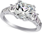 Giani Bernini Cubic Zirconia Large Stone Ring in Sterling Silver, Only at Macy's